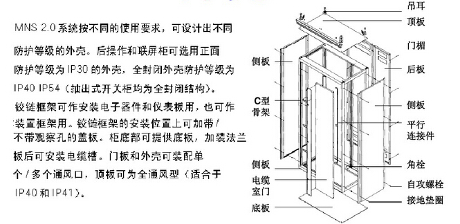 mns型低压开关柜的结构特点