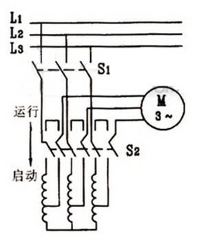 自耦变压器降压启动原理图