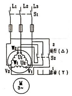 星三角降压启动工作原理及接线图